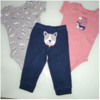 Conjunto 3 peças cachorrinhos - 9 meses - Carter`s