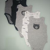 Kit body 5 peças little happy - 6 meses - Carter`s