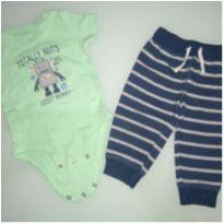 Conjunto calça e body robo - 6 meses - Carter`s