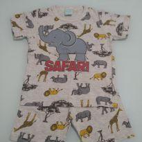 Pijama short e blusa safari - 2 anos - Kyly