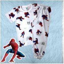 Pijama calça e blusa com manga curta Homem Aranha - 3 anos - Sem marca