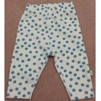 Era uma calça de bolinha azulzinha - 0 a 3 meses - PUC