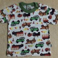 Camiseta carros carrinhos carrões - 3 a 6 meses - Puc Baby