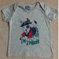 Camiseta cachorro pirata - 3 a 6 meses - Hering Kids