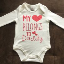 Body love Daddy - Tam 03 a 06m - 3 a 6 meses - PUC