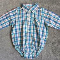 Body Polo Bebê Menino Em Algodão - Tam 03 a 06m - 3 a 6 meses - Puc Baby