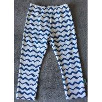 Calça branca zigue-zague azul bebê menino TAM 09 a 12 PUC - 9 a 12 meses - PUC