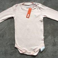 Body rosa com coração em strass no peito - Tam 12 a 18 meses - 12 a 18 meses - Puc Baby