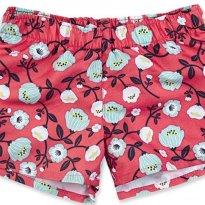 Shorts Infantil Menina Em Poliéster Estampado - tam 06 a 09m - 6 a 9 meses - Hering Baby