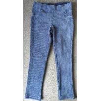 Calça legging bebê menina em veludo azul - Tam 02 - 2 anos - Hering Baby