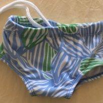 Sunga de menino azul/verde Tam 6 a 9 m - 6 a 9 meses - PUC