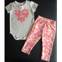 PRIMAVERA - Conjunto bebe menina PUC - Tam 09 a 12m - 9 a 12 meses - Puc Baby
