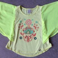 Blusa PUC com mangas em morcego transparentes - Tam 02 - 2 anos - PUC