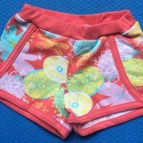 Shorts Bebê Menina Em Algodão Estampado - Tam 06 a 09m - 6 a 9 meses - Puc Baby