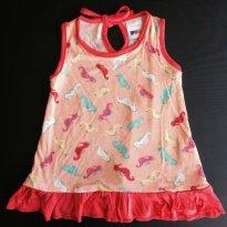 Vestido PUC Bebê Menina Em Viscose Com Estampa - Tam 01 - 1 ano - Puc Baby