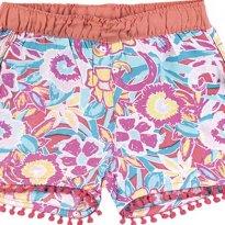 Shorts Bebê Menina Em Viscose Com Pompom - Tam 06 a 09m - 6 a 9 meses - Puc Baby