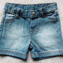 Bermuda Jeans Infantil Feminino - Tam 02 - 2 anos - Puc Baby