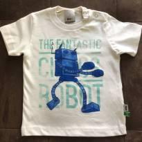 Camisa gelo bebê menino manga curta - The fantástic PUC - TAM 09 a 12m - 9 a 12 meses - PUC