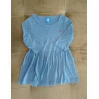 Vestido azul de malha da Hering Kids , Tamanho 4 anos - 4 anos - Hering Kids