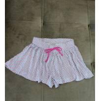 Saia/short branca com estampa floral da Hering Kids tamanho 4 anos - 4 anos - Hering Kids