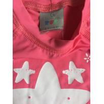 Camiseta Infantil Feminina Com Protetor Solar - TAM 09 a 12 PUC - 9 a 12 meses - PUC