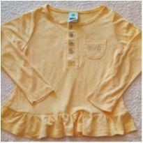 Blusa tipo batinha PUC - tamanho 2 anos - 2 anos - PUC