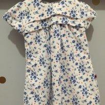 Vestido estampado de veludo cotelê - 6 a 9 meses - Teddy Boom