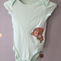 Body verde macaquinho - 3 a 6 meses - Carter`s
