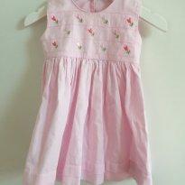 Vestido rosa - 9 a 12 meses - Bebê Talento