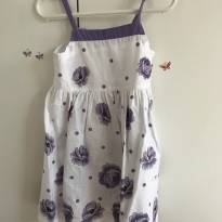 Vestido flores lilás - 2 anos - Alphabeto