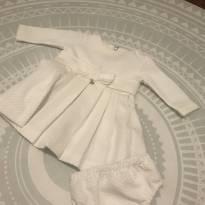 Vestido de festa branco - 3 a 6 meses - Paola BimBi