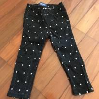 Calça preta de poá - 2 anos - Old Navy