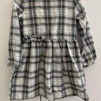 Vestido quadriculado cinza carter`s - 4 anos - Carter`s