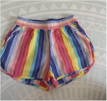 Short listrado de elástico na cintura - 2 anos - Baby Gap