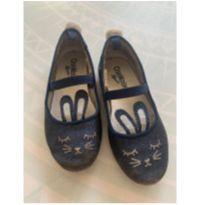 Sapatilha coelhinho azul glitter - 25 - OshKosh