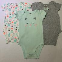 Kit Body Gatinha Child of Mine by Carter's - 0 a 3 meses - Carter`s e Child of Mine