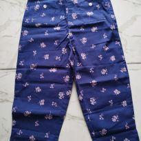 Calça Jacadi azul floral - 6 a 9 meses - Jacadi Paris