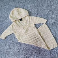 Cobertor saco de dormir em tricô bebê - Gap baby 0-3 meses (usado 1x) - 0 a 3 meses - Gap Kids