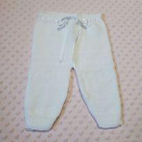 Calça de lã branca bebê 0-3 meses (nunca usada) - 0 a 3 meses - Não informada