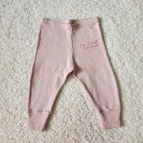 Calça legging rosa claro bebê - Fun Friends - M 3-6 meses (usada) - 3 a 6 meses - Fun Friends Baby