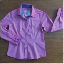 Camisa feminina Dudalina Petit rosa - 8 anos - Dudalina