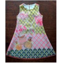 Vestido Trapézio Neoprene Um Mais Um  Chic e Prático - 6 anos - Um mais um