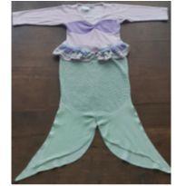 Roupa fantasia Sereia com cauda aberta em plush, 4-6 anos - 5 anos - Não informada