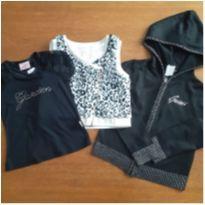 Kit Glam (Colete + Camiseta+ Casaco Guess), Tam. 6 anos - 6 anos - Guess e Nick