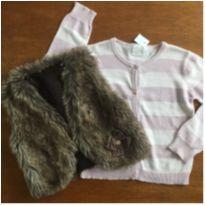 Colete marrom tipo pelúcia BugBee + cardigã Zara Knitwear - 5 anos - Bugbee e Zara