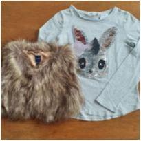 Colete GAP (+ Camiseta H&M grátis), Tam. 5-6 anos - 5 anos - GAP e H&M