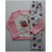 Pijama Inverno Soft Cupcake - 8 anos - Não informada