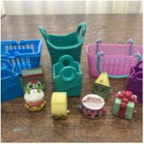 Kit Shopkins (6 cestos/sacolas + 6 acessórios) -  - Shopkins e Moose