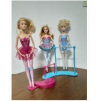 Kit 3 Barbies Bailarinas + Acessórios -  - Barbie