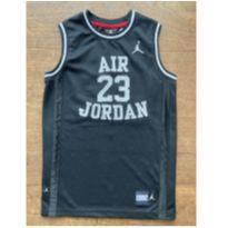 Regata Air Jordan Preta, 10-12 - 10 anos - Não informada